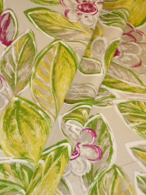 Curtain Drape Image Of Back In The Day Floral Design Decor Fabric Color Tropical With Purples