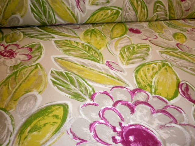 Elegant Angled Image Of Pattern Back In The Day, Retro Floral Design Decor Fabric,  Color