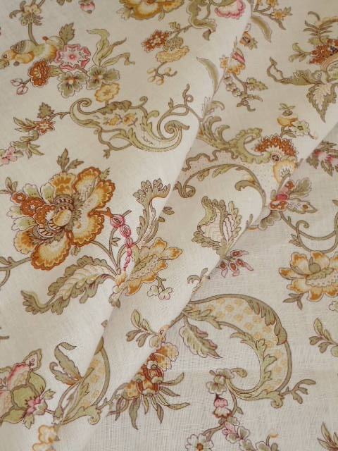 Pattern Huntington Floral Linen Decorating Fabric
