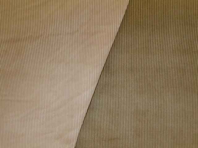 Closeout Small Wale Pincord Home Decor Corduroy Fabric Pattern Mersa Colors Almond And Khaki