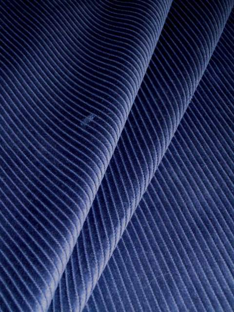 Navy blue small wale pincord home decor velvet corduroy fabric for Corduroy fabric