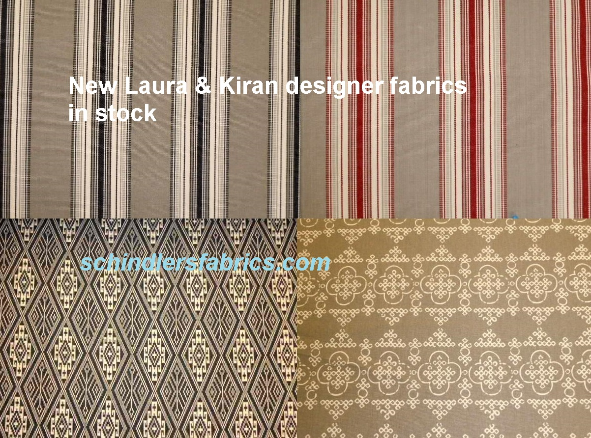 New laura kiran designer fabrics in stock for Designer fabric store
