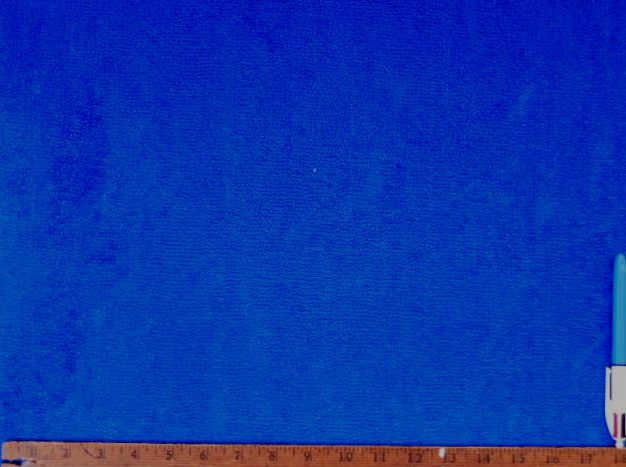 Sample Of Terry Cloth Vintage Velvet Upholstery Fabric In Royal Blue