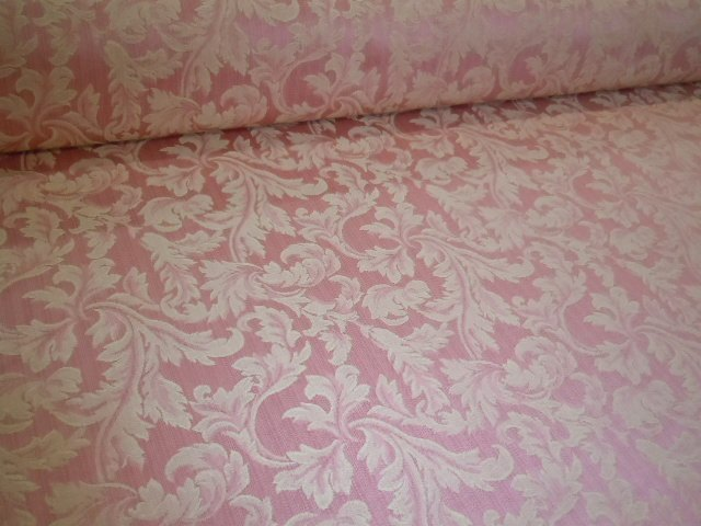 color blush floral scroll pattern penelope upholstery fabric