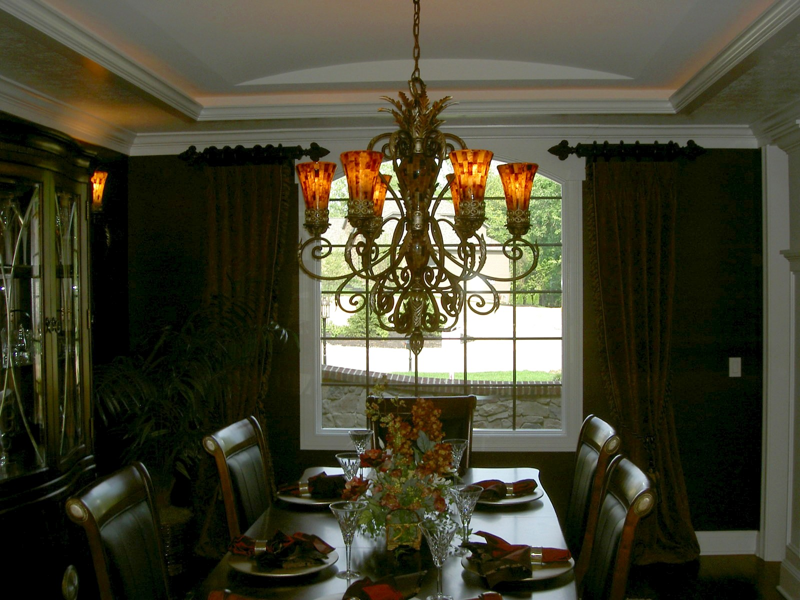 Formal dining room window treatments Dining room window curtains