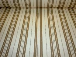 Classic Cream tan Stripe Laura & Kiran fabric Pattern 2231 on cutting table