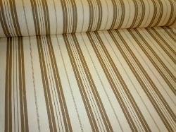Angled image of Cream Tan Laura & Kiran Pattern 2231 Classic Stripe fabric