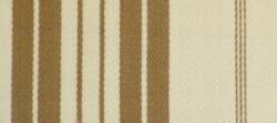 Swatch of Classic Stripe Fabric in Tan Cream