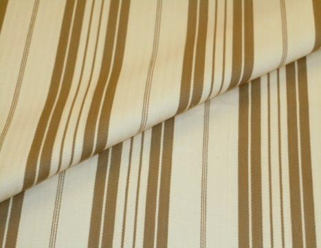 Closeup folded image of Pattern 2231 Classic Cream Tan Stripe Decorator Fabric a Laura & Kiran fabric