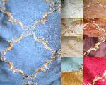 embroidered faux silk Pattern Abruzzo colors