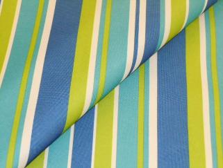 Marine and Outdoor Canvas awning stripe, in blues, yellow and white