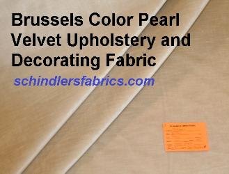 Brussels Color Pearl Velvet Upholstery and Decorating Fabric from JB Martin Fabrics