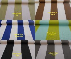 Indoor/Oudoor Cabana Stripe Fabric perfect for patio furniture and boat cushions, high UV resistant polyester for longer life and better durability, made in the USA