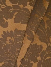 Draped curtain image of Contemporary Damask Design Pearson Bronze from the Candice Olson Collection