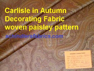 Pattern Carlisle in color Autumn, Decorating Fabric woven paisley design