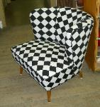 Reupholstered Chair in SFS Designs Pattern Metro Color Onyx