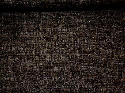 Chenille Pattern Hardwood in Salt & Pepper upholstery fabric, black and natural