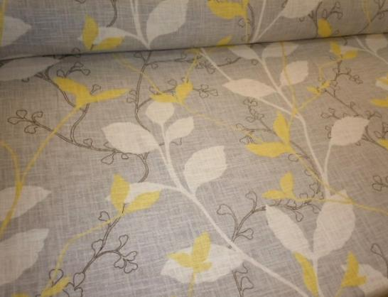 Leafy Contemporary Floral print Suburban Home Decorator Fabric