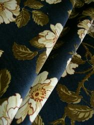 Cotton Velvet Upholstery Fabric Pattern Grandby Velvet Color Lapis Blue by Ralph Lauren on Closeout Sale