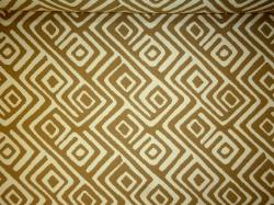 outdoor fabric, large modified greek key geometric design