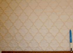 Sample of diamond grid Crawford Washed Decorator Fabric Color Natural