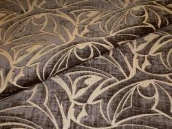 Closeup folded image of Cut Velvet Picno 73 in color Slate a Poly Cotton contemporary Upholstery Fabric
