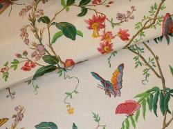 Closeup folded image of Buyout Home Decor Fabric Cortile Chintz Spring from Cyrus Clark Co