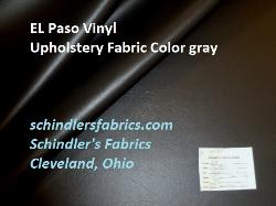 Click for Discount EL Paso Vinyl Upholstery Fabric Color gray leather like texture page
