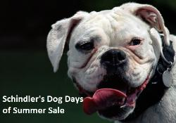 Schindler's Dog Days of Summer Sale 25% OFF Coupon