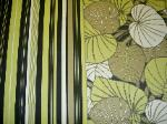 EFI High End Decorator Coordinate Patterns Fern Delight and Funstripe Color Black Home Decor Fabric