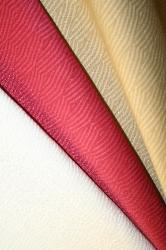 Draped Left Erie Islands Fabrics Shogun Basic Solid Colors Natural Cherry Buff Fabric