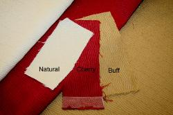 Swatches of Erie Islands Fabrics Shogun Basic Solid Colors Natural Cherry Buff Fabric