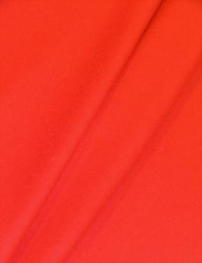 Draped curtain image of Robert Allen's Beacon Hill Taditional pattern Farm Fresh Color Vermillion