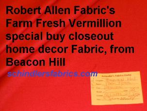 Beacon Hill Farm Fresh Vermillion special buy closeout wool upholstery Fabric