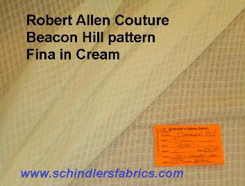 Beacon Hill Pattern Fina color Cream a Beacon Hill (the couture line of the Robert Allen) closeout