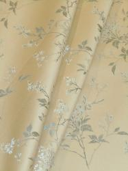 Draped curtain image of upholstery and decorating fabric Floral Field Color Frost