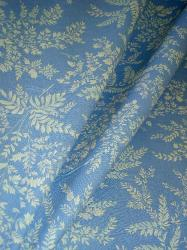 Floral Leaf Pattern Parkwood Color Blue from Robert Allen Home Fabrics Classic Simplicity Volume