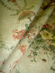 Floral Linen Cotton Ralph Lauren Design Pattern Villandry Bouquet Fabric Color Topaz on Sale
