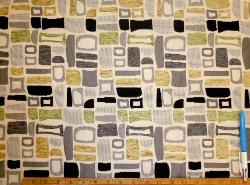 Sample of contemporary geometric Geiger color Oasis Upholstery Fabric