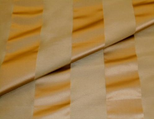Closeup folded image of high end stripe home decorating fabric, discounted closeout sale, pattern discontinued