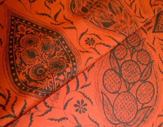 Closeuo foldedimage of Linen paisley pattern Hayden Decorator Fabric