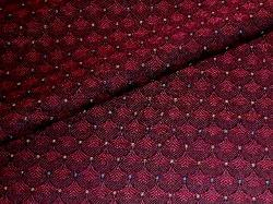 Closeup folded image of Color Burgundy Jacqueline Contract Fabric