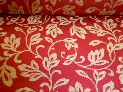 chenille and matelasse upholstery fabric pattern Julia Red