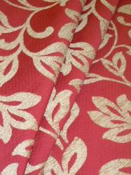 Draped curtain image of Pattern Julia Color Red Upholstery Fabric