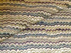 Closeup of Railroaded Upholstery Stripe Fabric K Winslow Spring