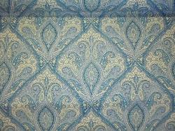 P Kaufmann Lavender Blue Paisley medium weight  multiuse home decorating fabric