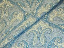 Lavender Blue Paisley home decorating fabric