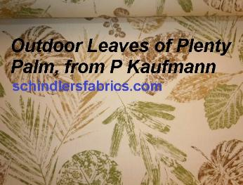 large floral screen print P Kaufmann Textiles Pattern Outdoor Leaves of Plenty Color Palm