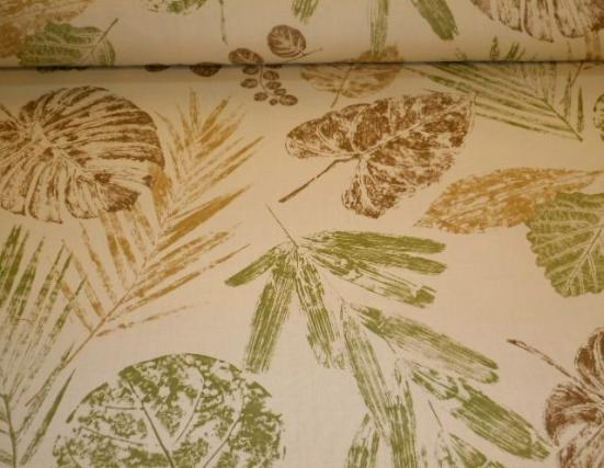 Pattern Outdoor Leaves of Plenty Color Palm indoor/outdoor spun polyester home decorating fabric, from P Kaufmann