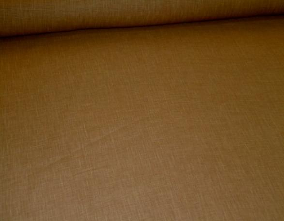 Angled image of stone washed linen from Belgium, Ralph Lauren Chambray Mesquite